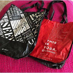 Lululemon large reusable shopper bags